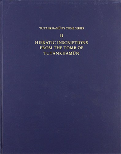 9780900416118: Hieratic Inscriptions from the Tomb of Tut'ankhamun: 001 (Tut'ankhamun's Tomb Series)