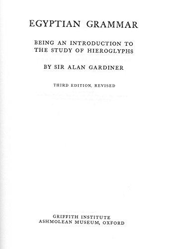 9780900416354: Egyptian Grammar (Egyptology: Griffith Institute)