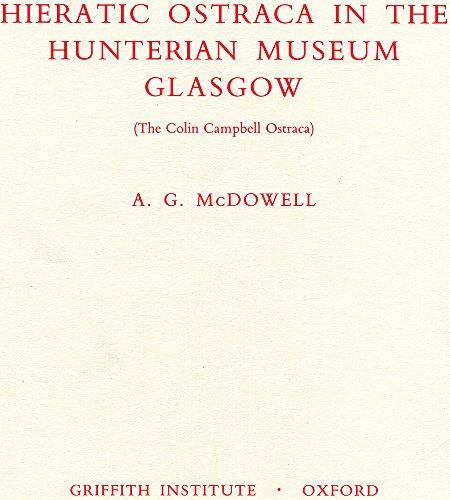 Hieratic Ostraca in the Hunterian Museum,