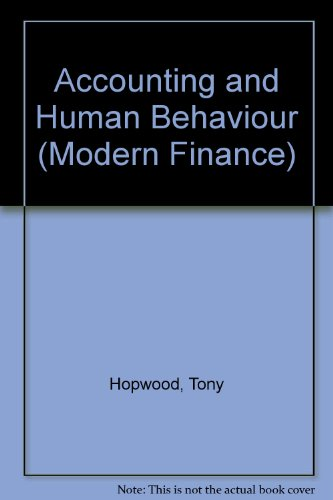 9780900442414: Accounting and Human Behaviour (Modern Finance)