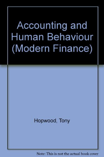 9780900442605: Accounting and Human Behaviour (Modern Finance)