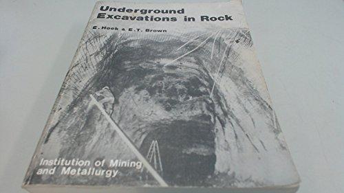 9780900488559: UNDERGROUND EXCAVATION IN ROCK PB