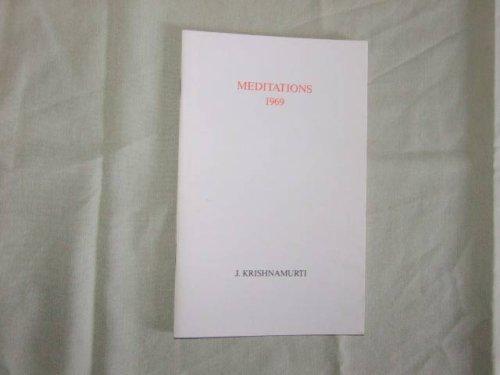 9780900506017: Meditations 1969