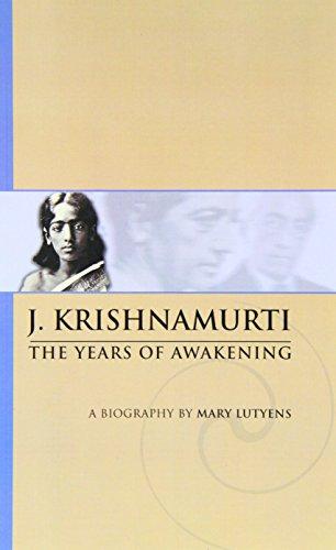 9780900506192: J. Krishnamurti: The Years of Awakening