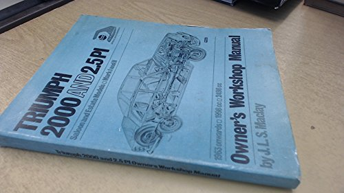 9780900550300: Triumph 2000 and 2.5PI Owners Workshop Manual
