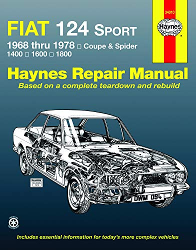 9780900550942: Fiat 124 Sport 1968 Thru 1978: Coupe and Spider 1400 1600 1800