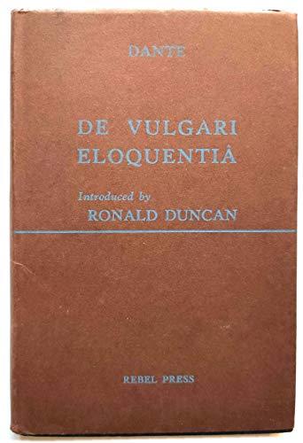 9780900615122: De Vulgari Eloquentia