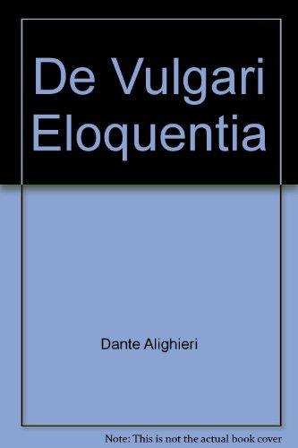 9780900615252: De Vulgari Eloquentia