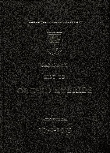 9780900629853: Sanders List of Orchid Hybrids 5 Year Addendum 1971-1975