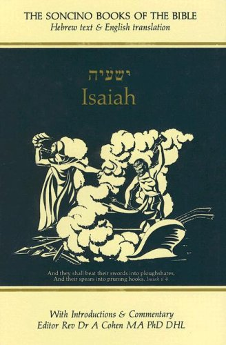 Isaiah: Hebrew Text English Translation With an: I. W. Slotki