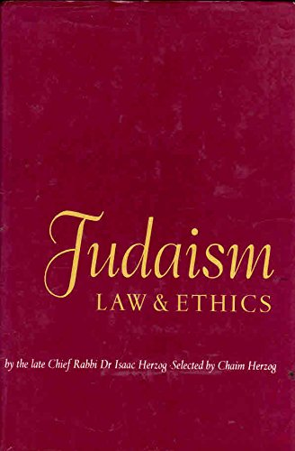 9780900689734: Judaism: Law and Ethics
