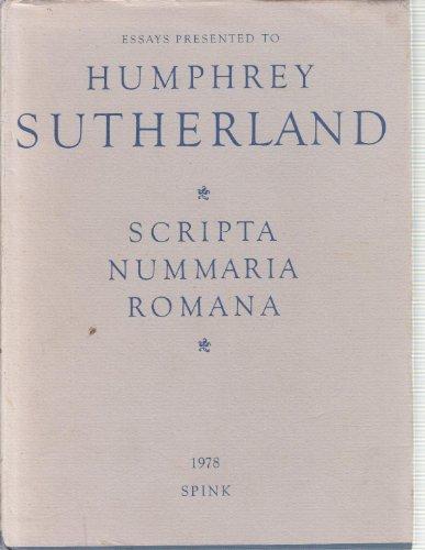 9780900696800: Scripta Nummaria Romana: Essays Presented to Humphrey Sutherland