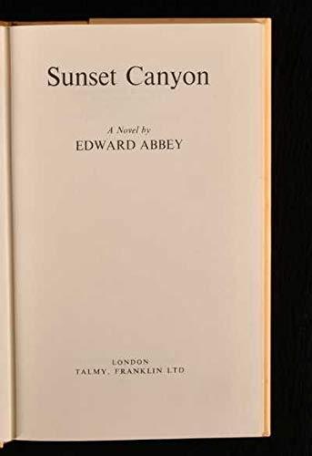 9780900735035: Sunset Canyon