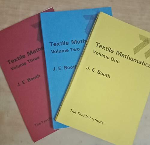 9780900739163: Textile Mathematics: v. 1