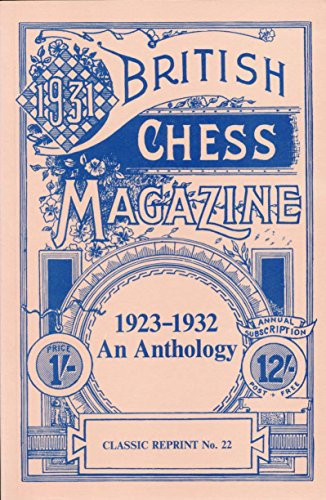 9780900846458: British Chess Magazine - 1923-1932 An Anthology