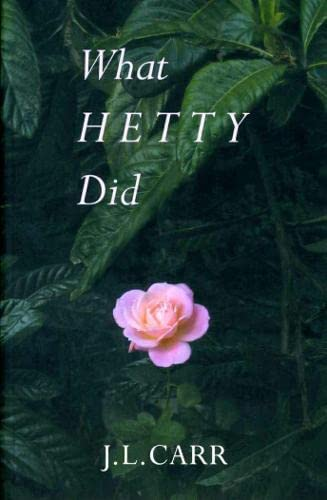 9780900847912: What Hetty Did: Life and Letters