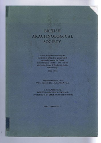 9780900848360: British Arachnological Society Bulletin: Nos. 1-40
