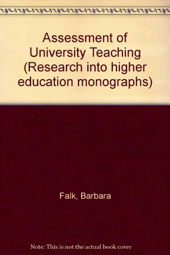 ASSESSMENT OF UNIVERSITY TEACHING: BARBARA FALK, LEE
