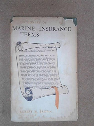 9780900886065: Dictionary of Marine Insurance Terms