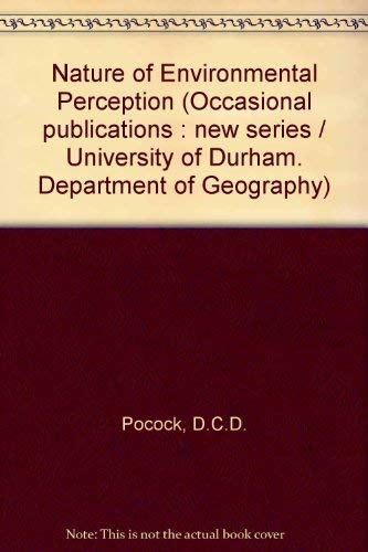 9780900974267: Nature of Environmental Perception (Occasional publications)