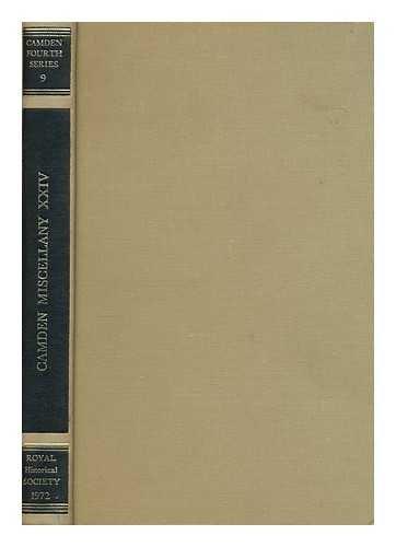 Camden Miscellany. Vol. XXIV