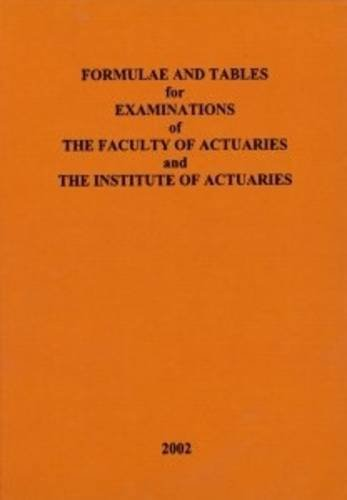 9780901066572: Formulae and Tables for Examinations of the Faculty of Actuaries and the Institute of Actuaries