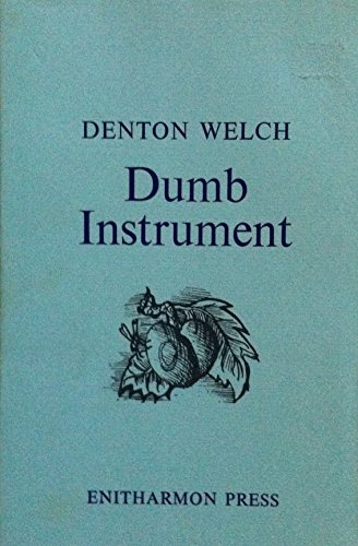 9780901111746: Dumb Instrument: Poems and Fragments