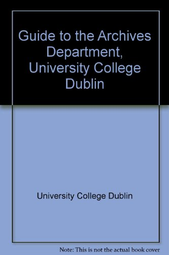 Guide to the Archives Department University College Dublin: Holland Ailsa and Helferty Seamus (...