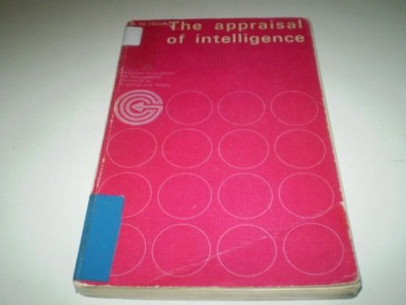9780901225627: The Appraisal of Intelligence