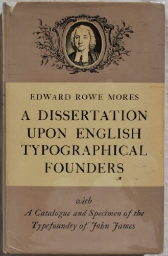 9780901420176: A Dissertation Upon English Typographical Founders