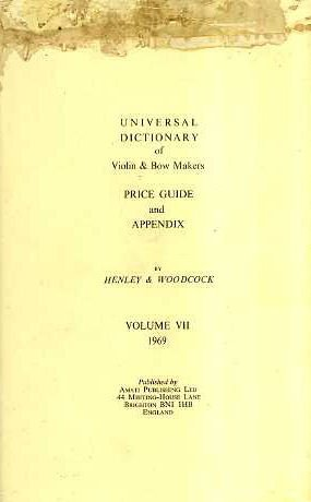 9780901424006: Universal Dictionary of Violin and Bow Makers: Price Gde.& Appendix
