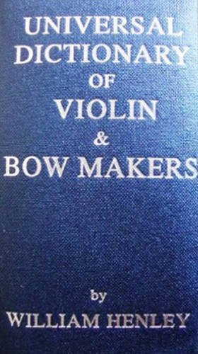 9780901424044: Universal Dictionary of Violin and Bow Makers
