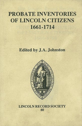 9780901503534: Probate Inventories of Lincoln Citizens, 1661-1714 (Publications of the Lincoln Record Society)