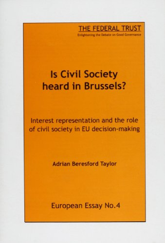 9780901573063: Is Civil Society Heard in Brussels?: Interest Representation and the Role of Civil Society in EU Decision-making