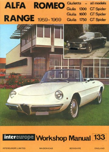 9780901610164: Alfa Romeo Giulia and Giulietta range workshop manual 1959-1969