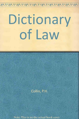 9780901659439: Dictionary of Law