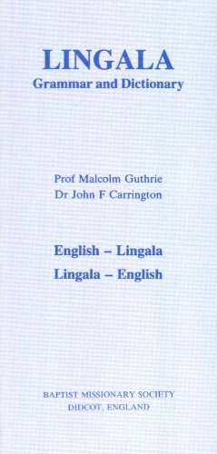 9780901733085: Lingala Grammar and Dictionary: English-Lingala, Lingala-English