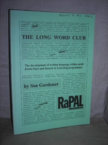 9780901800053: The long word club: The development of written language within adult fresh start and return to learning programmes