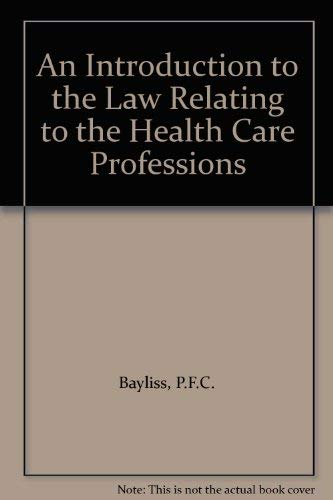9780901812643: Law Relating to Health Care Professions
