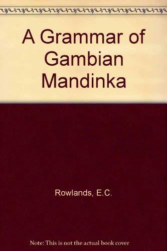 9780901877253: A Grammar of Gambian Mandinka