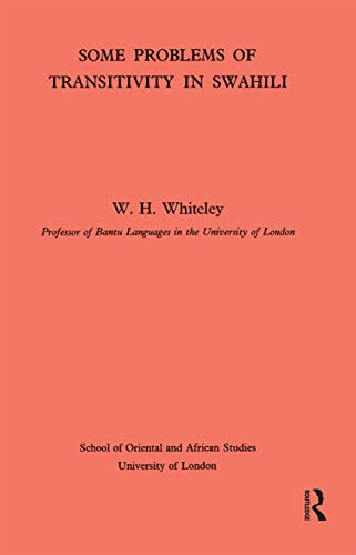 Some problems of transitivity in Swahili.: WHITELEY (W. H.)