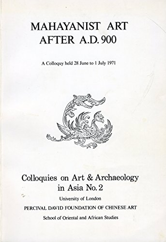 9780901877840: Mahayanist Art After A.D.900