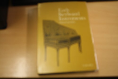 9780901951038: Early Keyboard Instruments