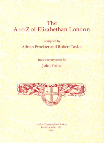 9780902087156: A. to Z. of Elizabethan London (Publication / London Topographical Society)