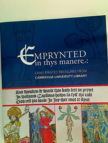 9780902205710: Emprynted in Thys Manere: Early Printed Treasures from Cambridge University Library