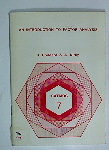 Introduction to Factor Analysis (Concepts and techniques: J.B. Goddard