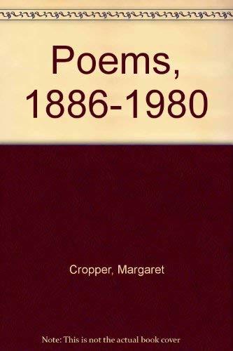 POEMS, MARGARET CROPPER: 1886-1980.: Cropper, Margaret (edit Anne Hopkinson).