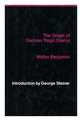 9780902308138: The Origin of German Tragic Drama