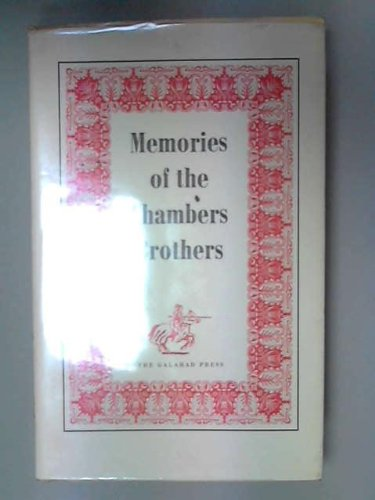 Memories of the Chambers Brothers (0902395033) by William Chambers