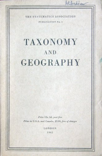 Taxonomy and Geography (0902551078) by David Nichols